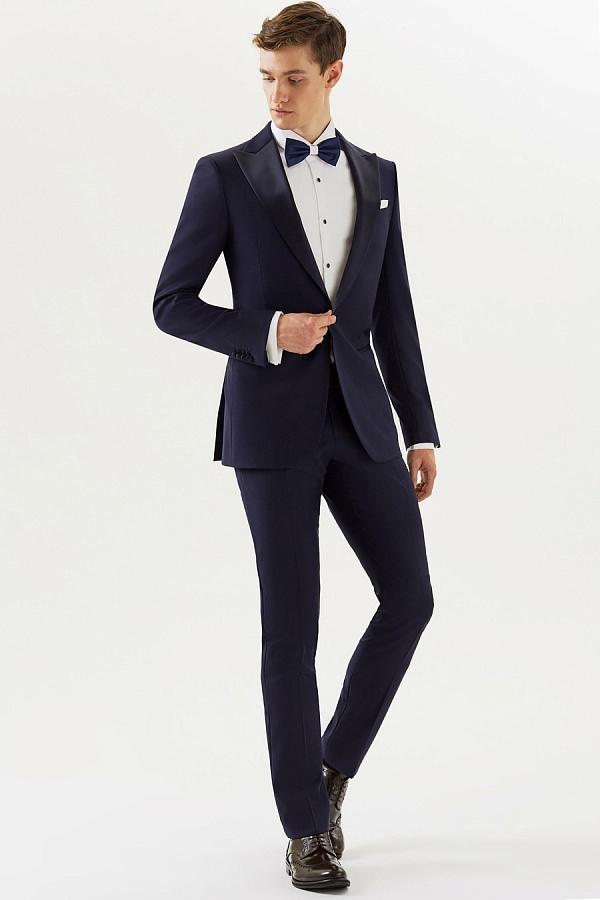 Прокат смокинга синий Conor CEREMONY (DRESS CODE BLACK TIE)