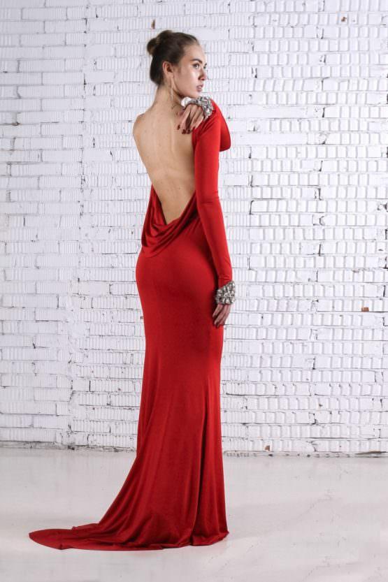 Платье красное EDIZ