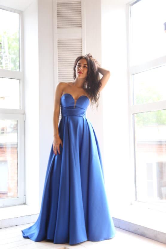 Платье от Jovani (США) Venetian blue
