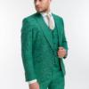 Костюм-тройка зеленого цвета