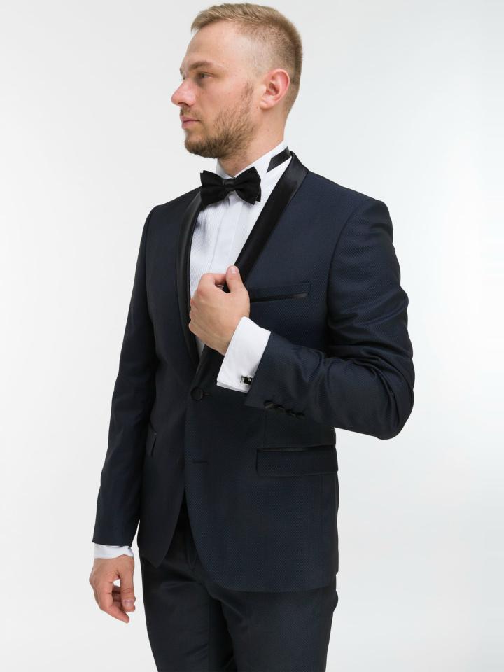 Темно-синий смокинг Premium Tuxedo (DRESS CODE BLACK TIE)