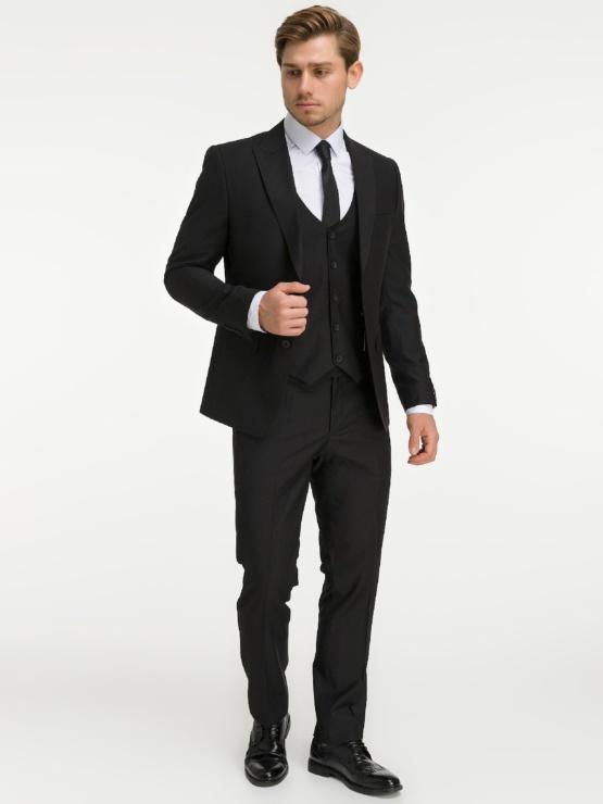 Костюм-тройка черного цвета Man in Black